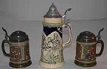 3 Beer Steins 2 Gerz  Arts & Crafts 1 Traditional