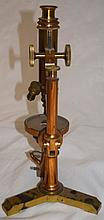 1880's Bausch & Lomb Optical Brass Microscope