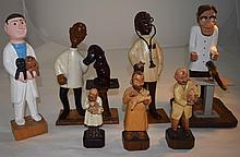 7 Italian & Continental Carved Wood Veterinarians