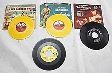 Lot Of 4 Walt Disney 45 RPM's