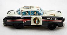 Tin Litho P.D. Highway Patrol Car 9893