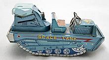 Tin Litho Space Tank Toy