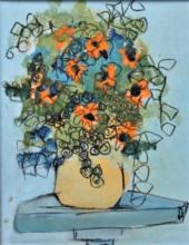 Susan Pear Meisel (1947-) Original Oil Still Life
