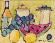 Susan Pear Meisel (1947-) Original Oil 'Fruit'