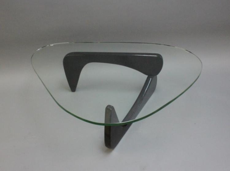 Vintage Isamu Noguchi Wood Glass Coffee Table