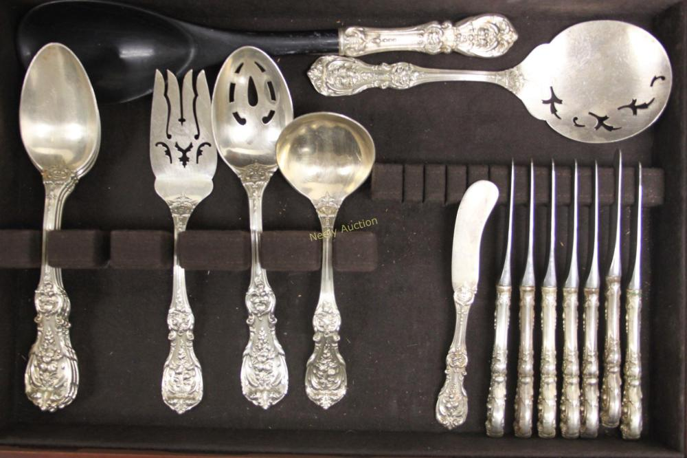 """Sterling Francis I flatware by Reed /& Barton individual Demitasse Spoon 4.25/"""""""