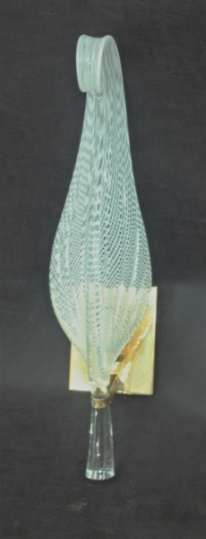 Vintage Murano Glass Fern Leaf Wall Sconce