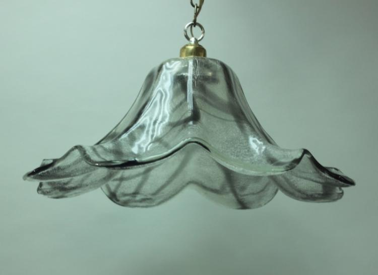MCM Vetri Tulip Form Murano Glass Hanging Light