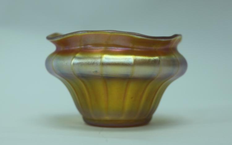 LCT Tiffany Favrile / Quezel Iridescent Gold Finger Bowl