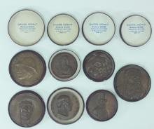 (7) Galerie Henaut Madame Mezier Bronze Medallions