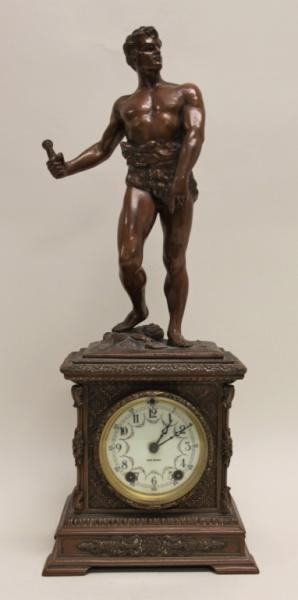 Seth Thomas Bronze WPA Male Figural Clock
