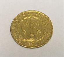 1834 Chilean 8 Escudos Gold Coin = 0.85 Troy Oz.