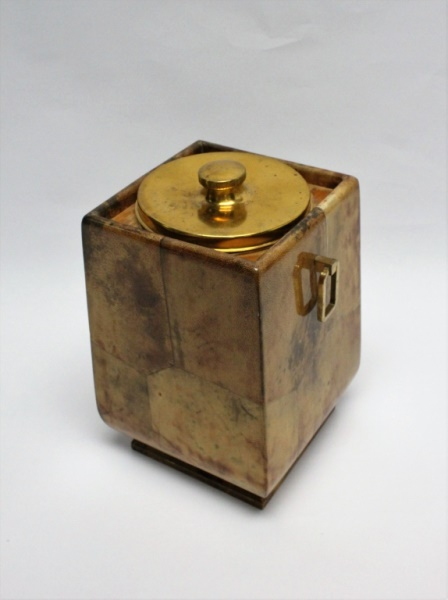 MCM Aldo Tura Goatskin & Brass Ice Bucket
