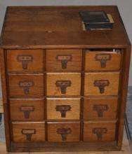 400+ Collection Magic Lantern Slides, 12 D Cabinet
