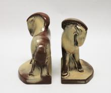 Vintage Frankoma Pottery Horse Bookends