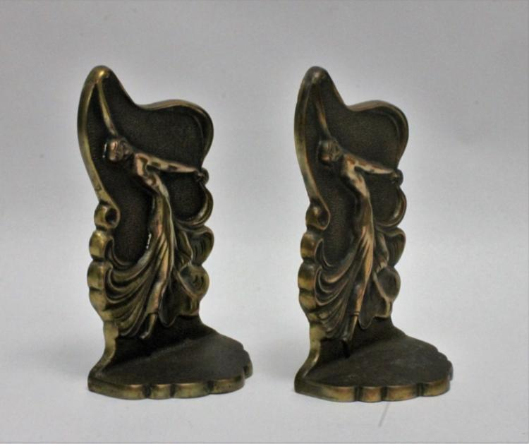 J.L. Drucklieb Bronze Dancing Girls Bookends