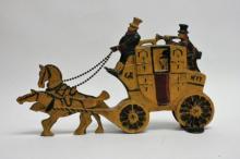 19 C London Royal Mail Carriage Cast Iron Doorstop