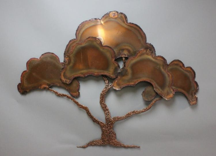 Ross Bendixen Brutalist Tree Wall Sculpture