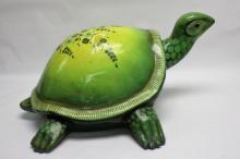 Large Mexican Folk Art Paper Mache Tortoise