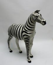 Modern Goat Skin Leather Zebra Room Decoration