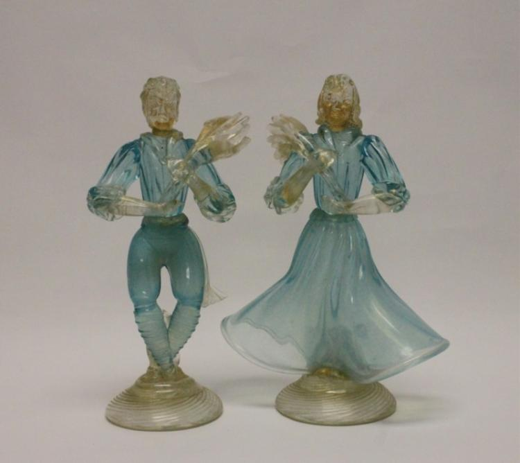 Pair of 1950's Murano Glass Blackamoor Figures