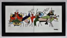 César Manrique 1919-92 Spanish Expressionist Tiles