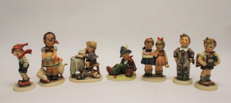 (7) Goebel Germany Hummel Figurines Geese and Pie