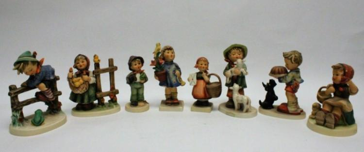 (8) Goebel Germany Hummel Figurines Fences & Lambs