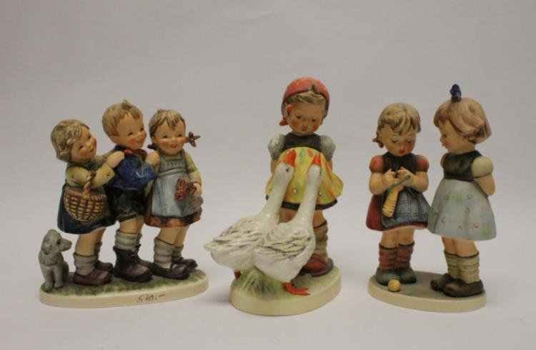 (3) Larger Goebel Germany Hummel Figurines