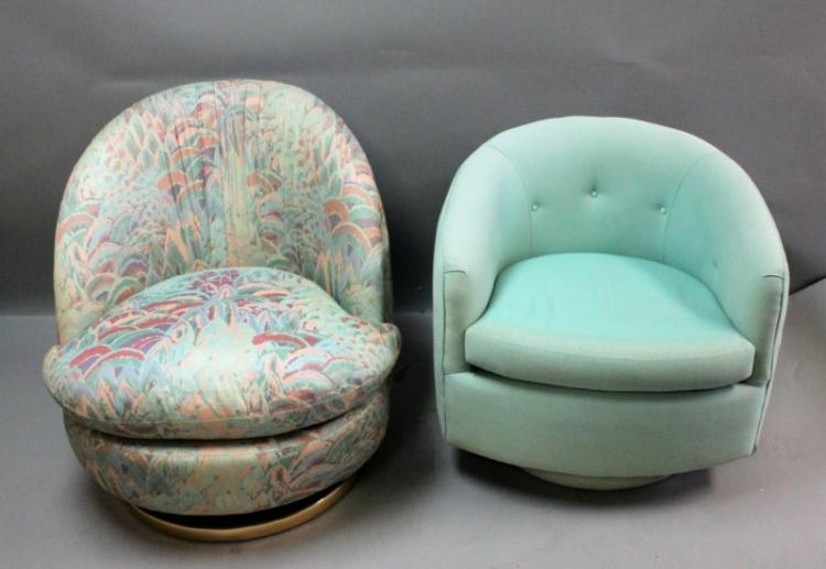 2) Thayer Coggin Ind. For Milo Baughman Tub Chairs