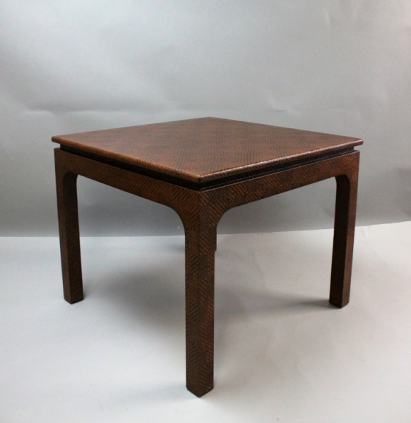 MCM Harrison Van Horn Raffia Game Table