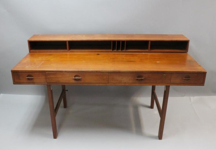 1970's Danish Peter Lovig Nielsen Dansk Teak Desk