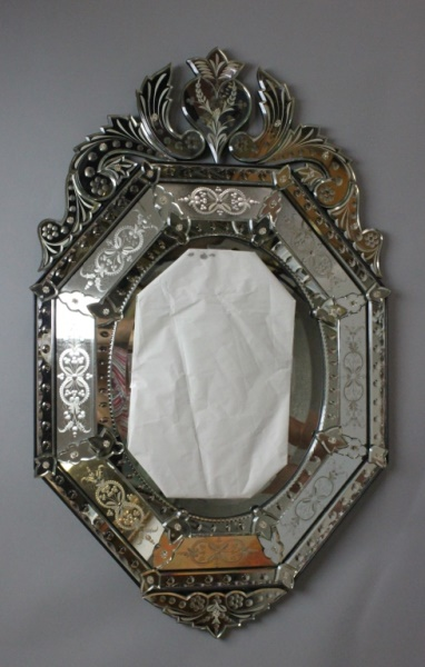 Vintage Venetian Hollywood Regency Style Mirror