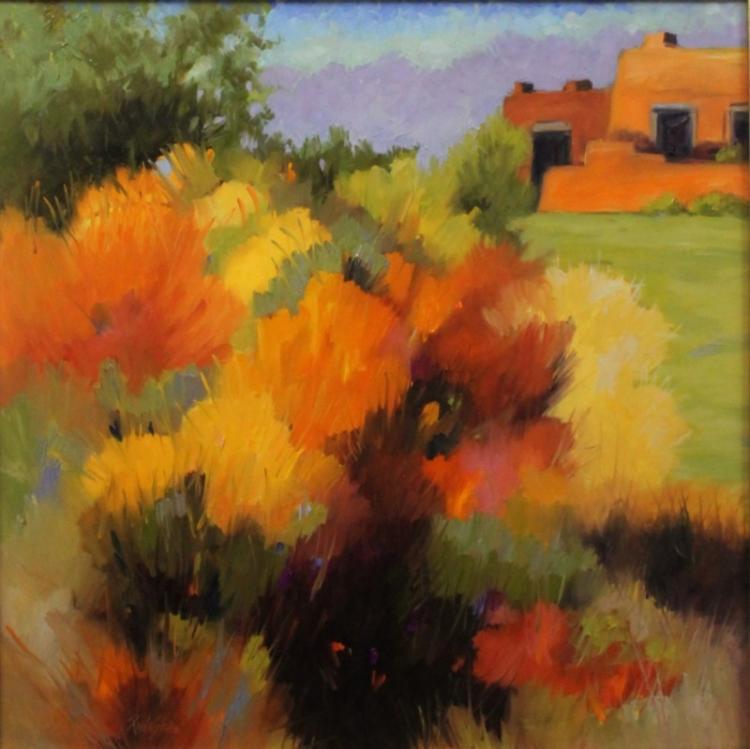 Paula Shaw, Santa Fe Artist Landscape Oil/Canvas