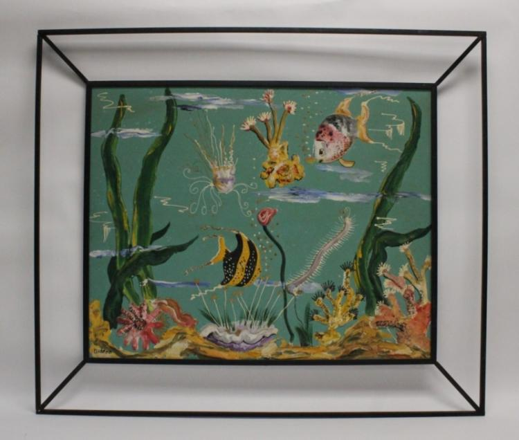 Outsider Art 3D Aquarium Underwater Ocean Diorama