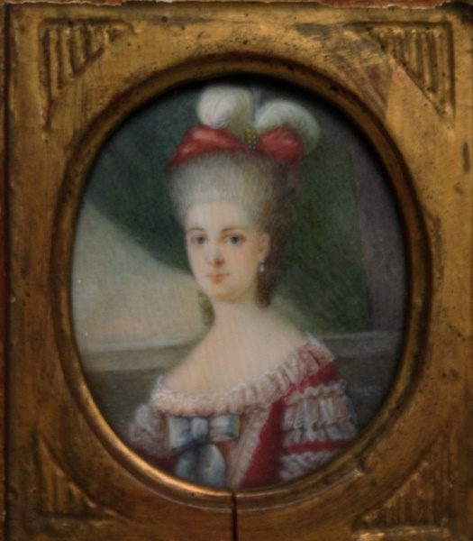 19th C French Painting of a Lady signed