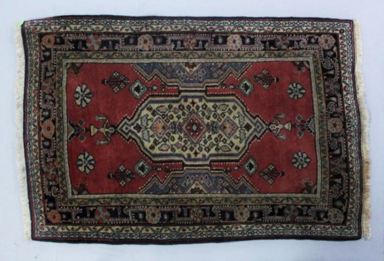 Vintage Persian Oriental Rug with Children