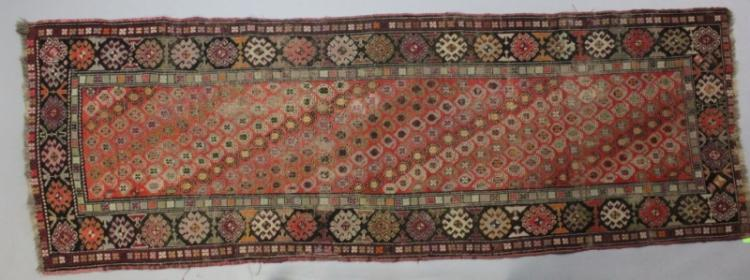 Vintage Wool on Wool Oriental Balouch Runner