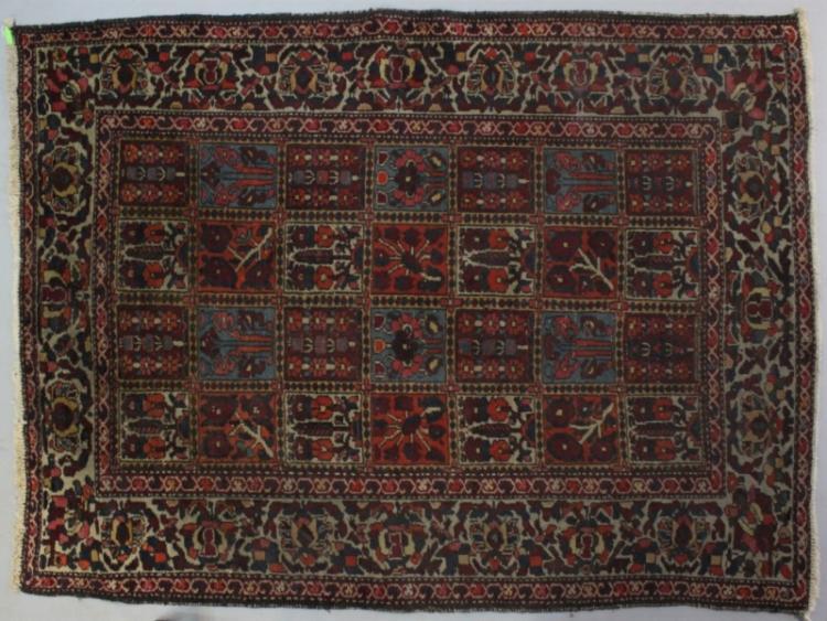 Vintage Bakhtiari Kheshti Area Rug