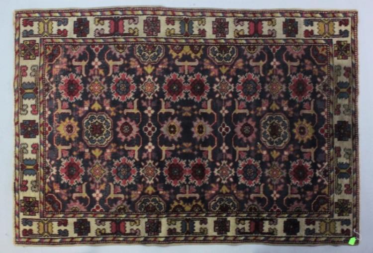 20th Century Caucasian Floral Area Rug