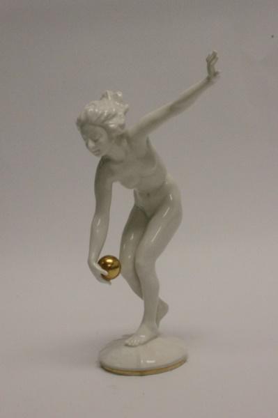 Hutschenreuther Art Deco Nude Woman Figurine