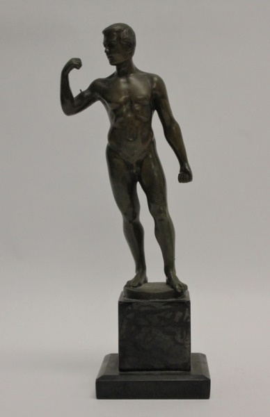 Schwatenberg (1898-22) Bronze Nude Male Sculpture