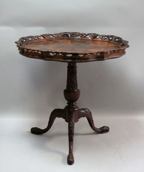 Mahogany Pie Crust Table Heritage Furniture Co.