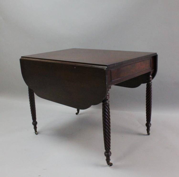 1920's Charleston, SC Mahogany Pembroke Table