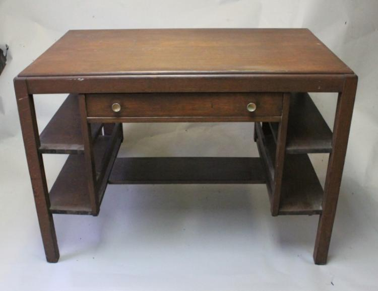 L & J G Stickley Mission Oak Arts & Crafts Desk
