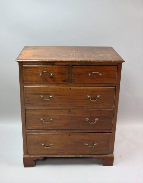 19th C English Mahogany Inlaid Dresser