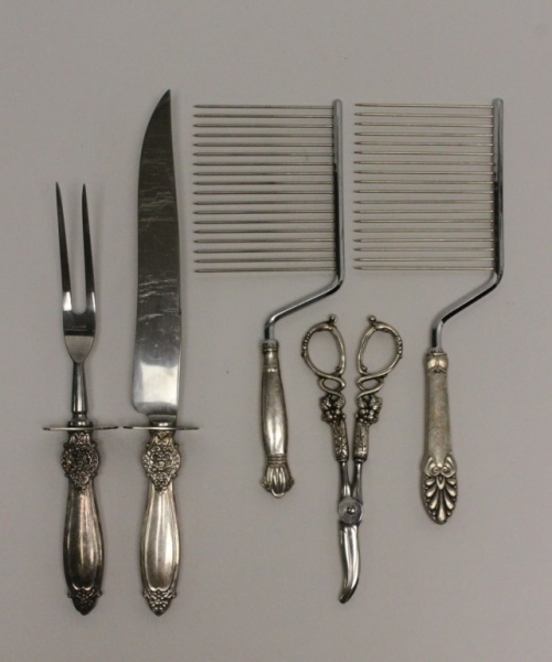 (5) Pcs Sterling-Handled Serving Utensils
