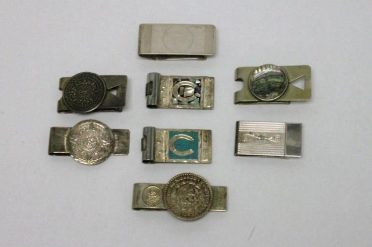 (8) Vintage Sterling Silver Money Clips