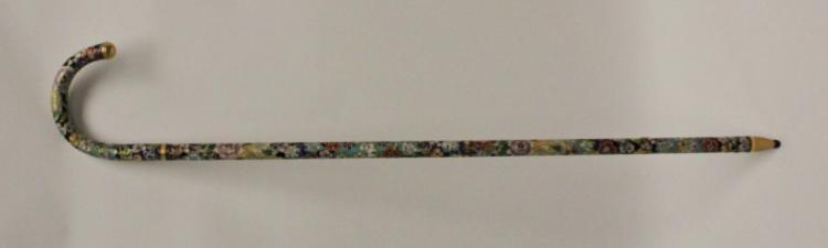 Vintage Cloisonne Cane / Walking Stick