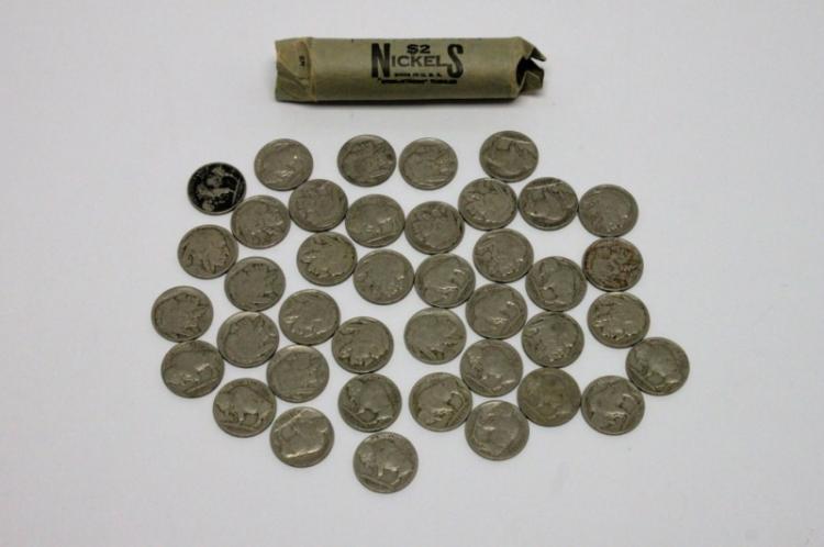 (40) Buffalo Nickels 1920-1937